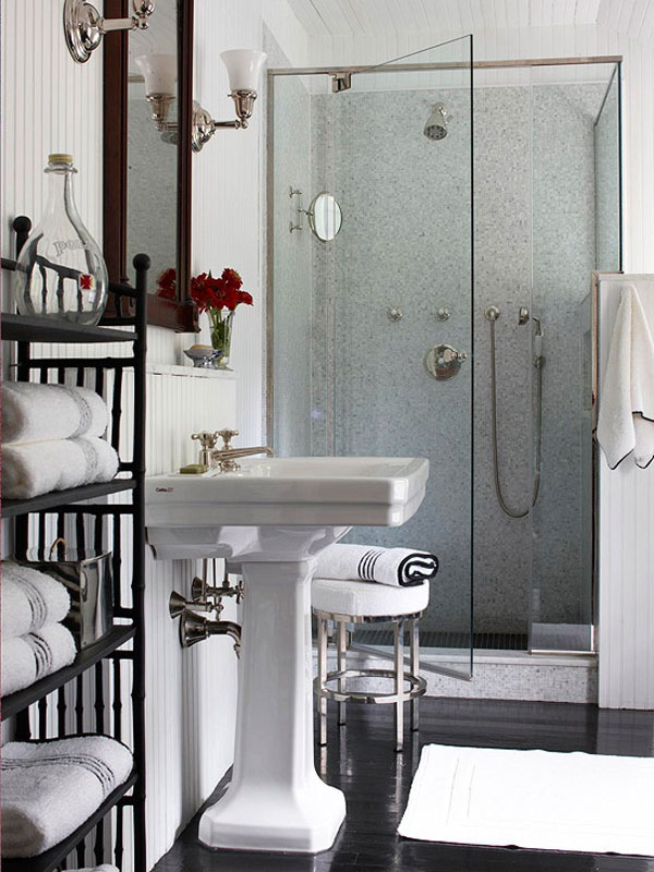 30 Small and Functional Bathroom Design Ideas | Home ... on Ideas For Small Bathrooms  id=37999