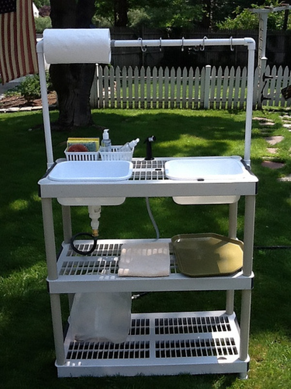 Collapsible Camp Washing Station | Home Design, Garden ... on Outdoor Sink With Stand id=82292