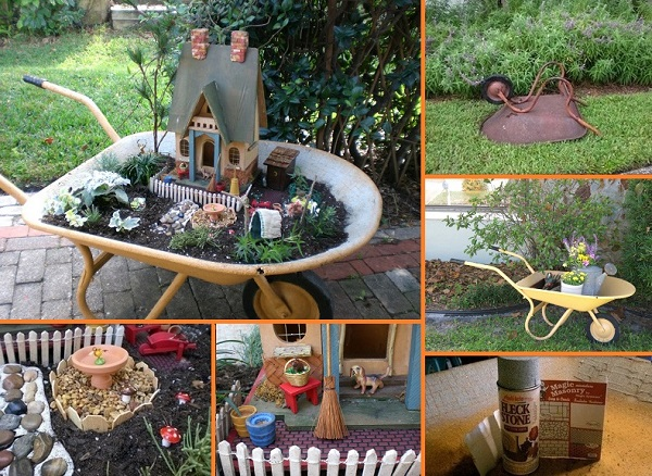 wheelbarrow-miniature-garden